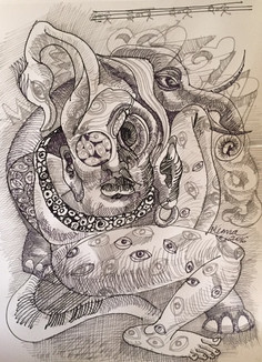 Indra with a thousand eyes | $250 (discounted at $200)