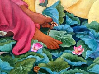 Maya's feet | original painting is SOLD.