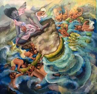 Samudra Manthan (Churning of the Mighty Ocean) | SOLD!