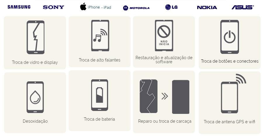 Assistência técnica smartphones