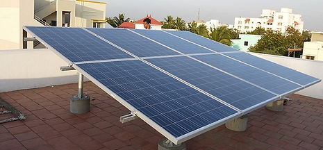 Home roof solar plant