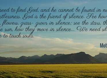 A prayer of silence and listening and patience