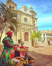 -Mujer palenquera- Cartagena de Indias,