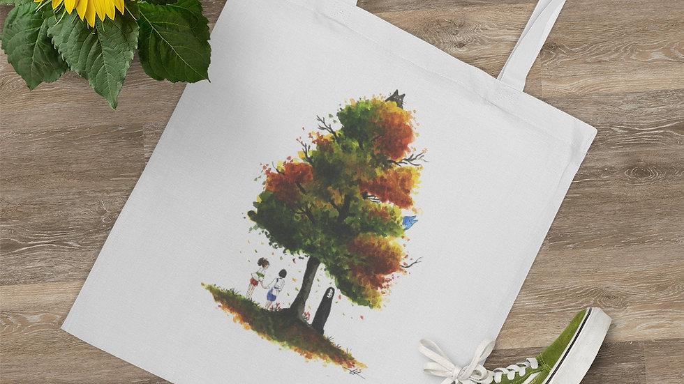 Ghibli Spirited Away with Totoro Watercolor Original Design Tote Bag