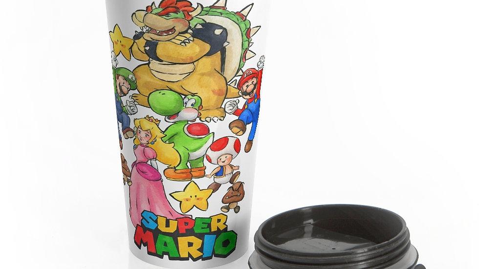 Super Mario Bros Original Design Stainless Steel Travel Mug