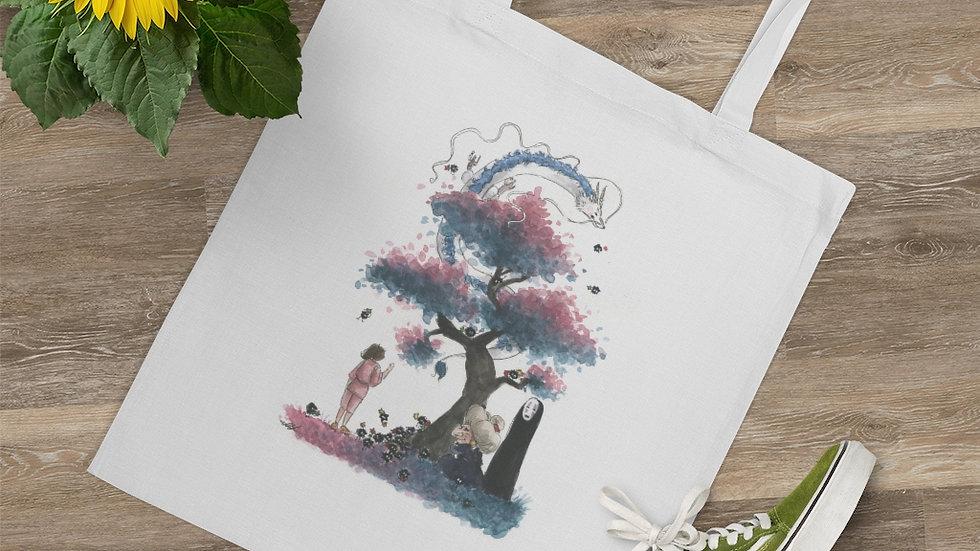 Spirited Away Dragon Watercolor Original Design Tote Bag