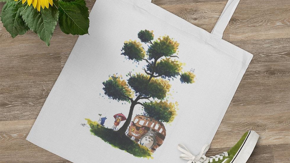 Studio Ghibli Totoro & Catbus Watercolor Original Design Tote Bag