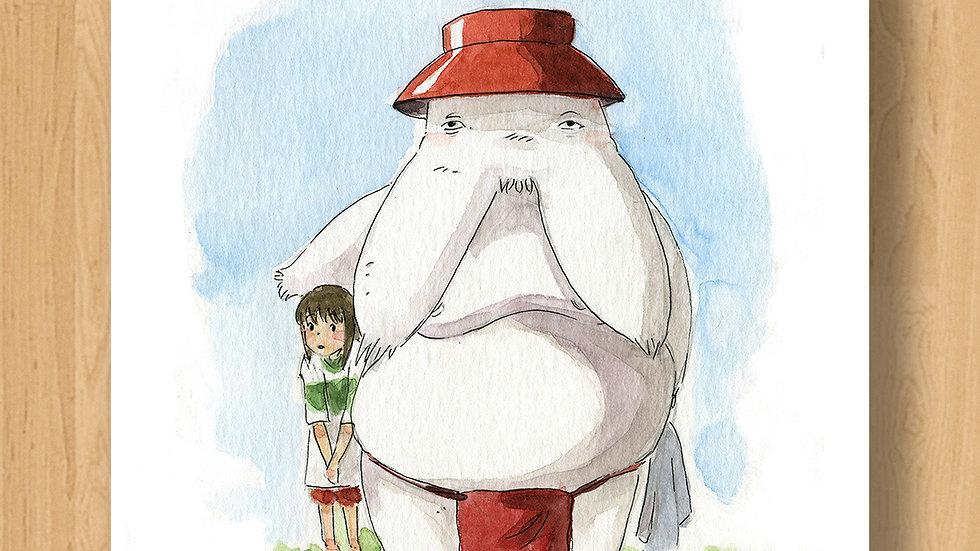 Ghibli Chihiro & Radishman Original Design Print