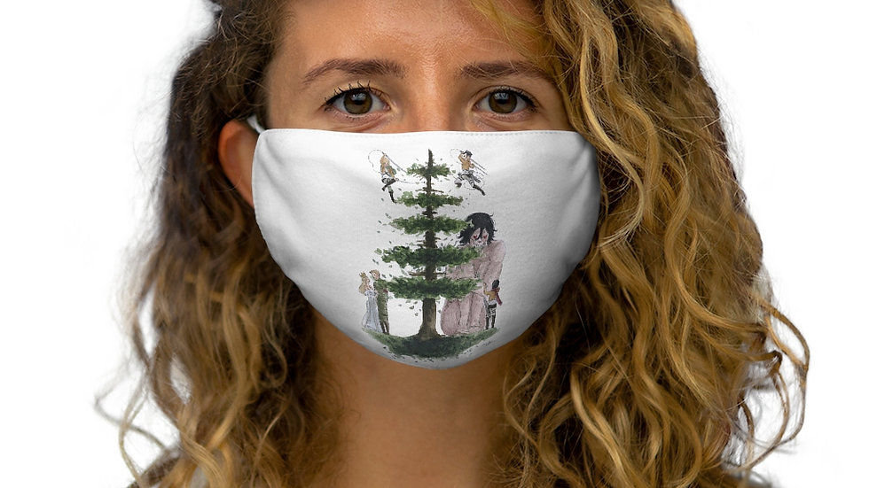 Attack on Titans Tree Watercolor Original Design Snug-Fit Polyester Face Mask