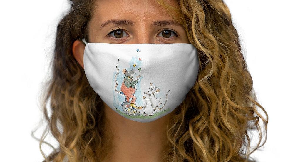 Juggling Mice Watercolor Original Design Snug-Fit Polyester Face Mask
