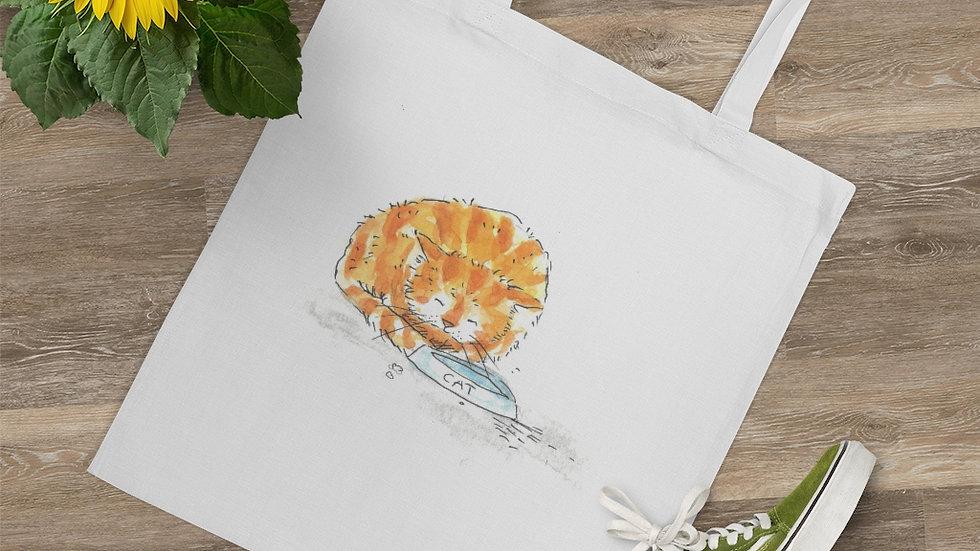 Ginger Cat Watercolor Original Design Tote Bag