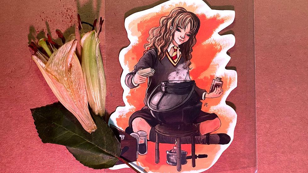 Hermione Granger Hogwarts Original Design Handmade Sticker