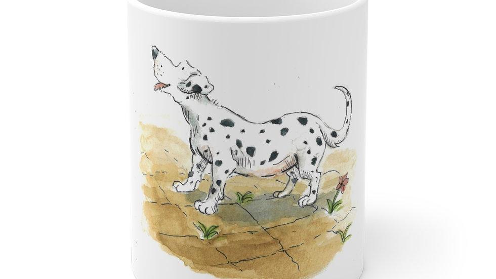 Happy Dalmatian Watercolor Original Design Ceramic Mug (EU)