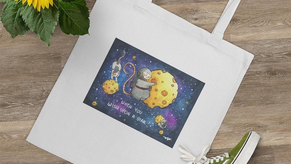 Astromice on Cheese Planets Watercolor Original Design Tote Bag