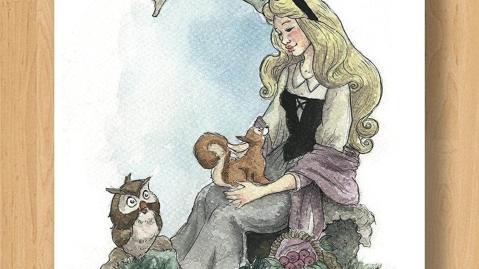 Disney Princess Aurora Original Design Print