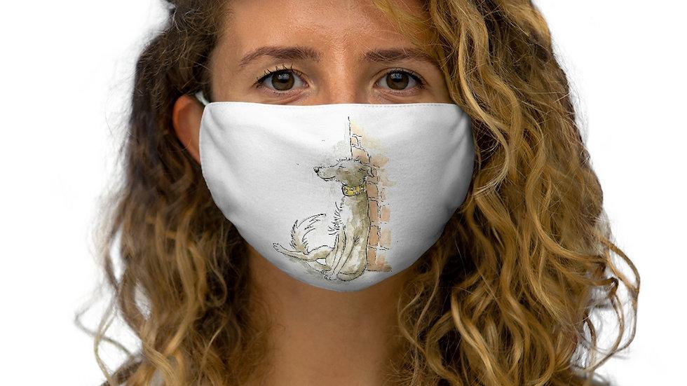 Dreamy Dog Watercolor Original Design Snug-Fit Polyester Face Mask