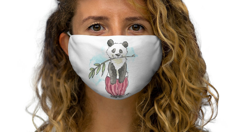 Happy Panda with Red Tracers Original Design Snug-Fit Polyester Face Mask
