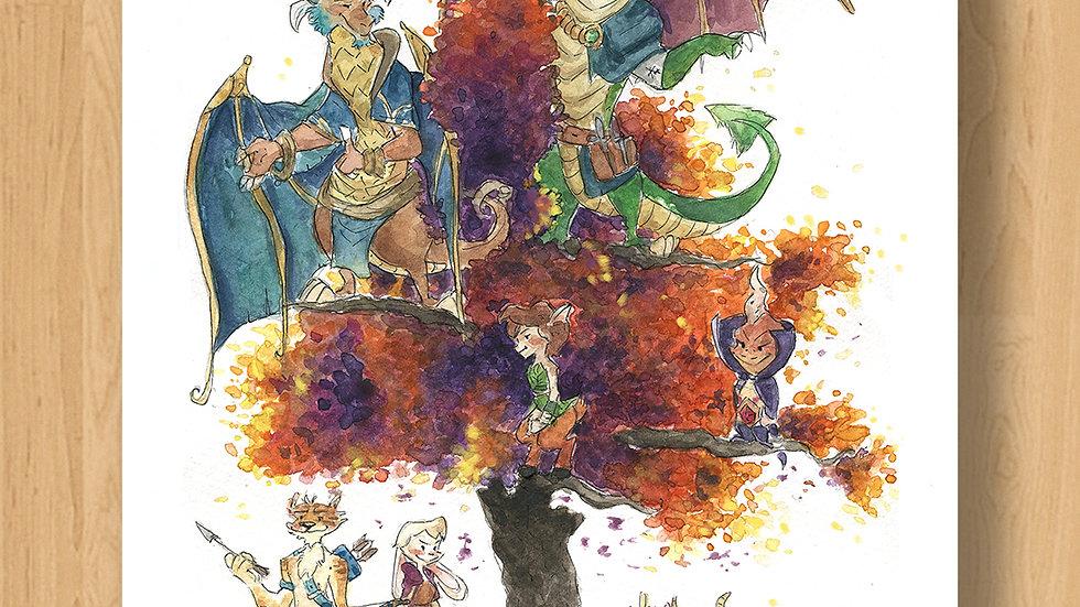 Spyro the Dragon Original Design Print