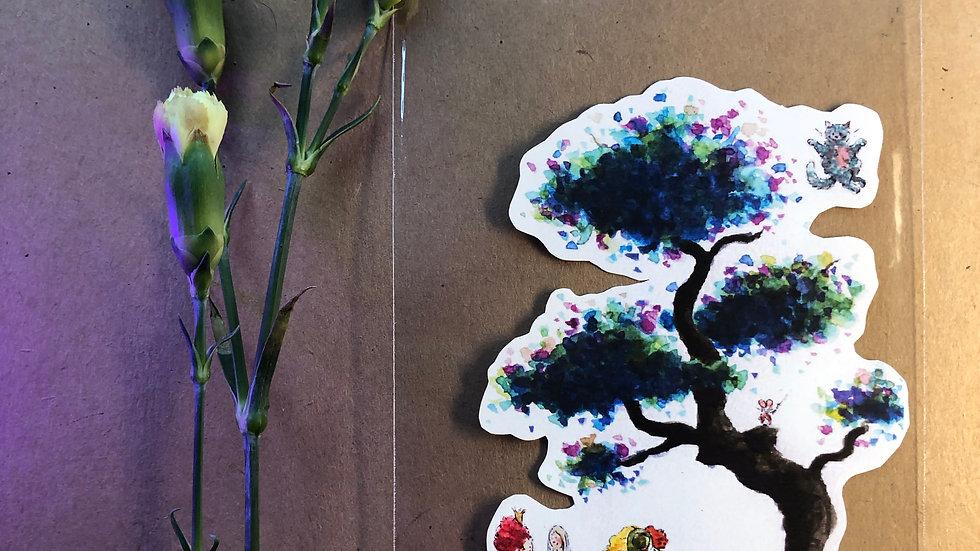 Tim Burton Alice in Wonderland Original Design Handmade Sticker