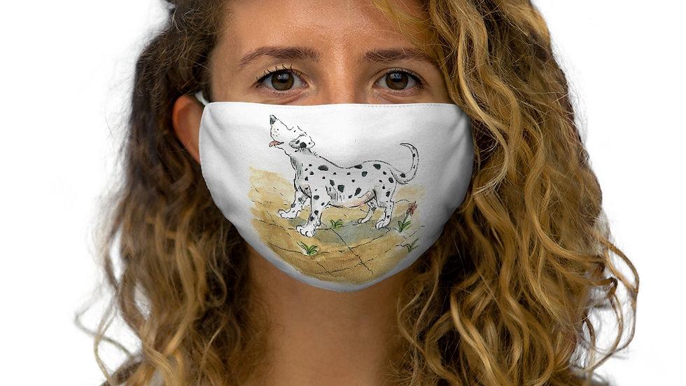 Happy Dalmatian Watercolor Original Design Snug-Fit Polyester Face Mask