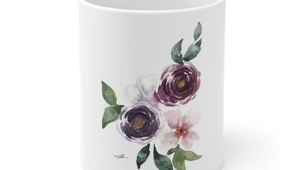 Three Roses Bundle Watercolor Original Design Ceramic Mug (EU)