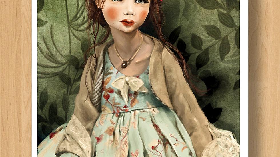 Fairy with Carillon Original Design Print