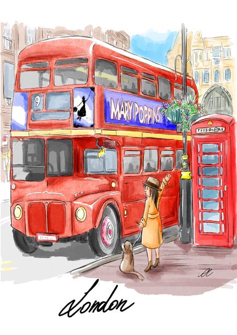 London Digital Watercolor