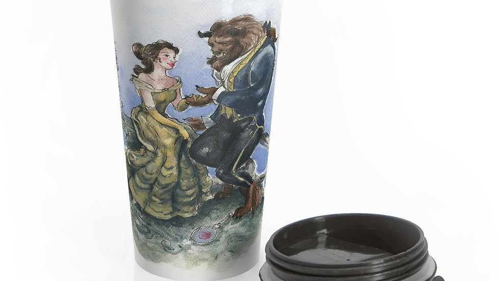 Disney Beauty and the Beast Stainless Steel Travel Mug
