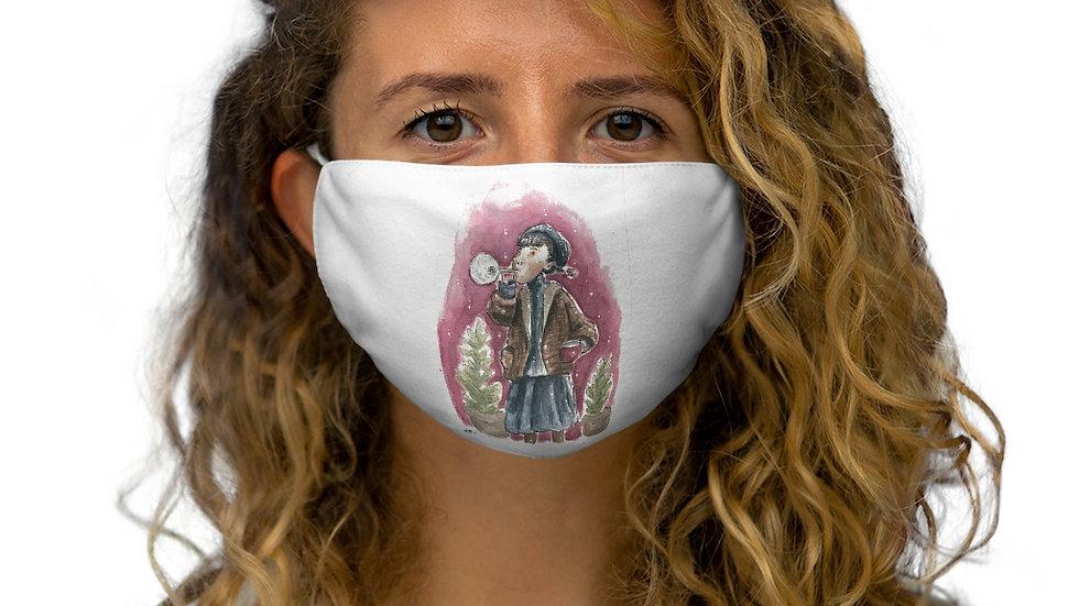 Trumpeter Watercolor Original Design Snug-Fit Polyester Face Mask
