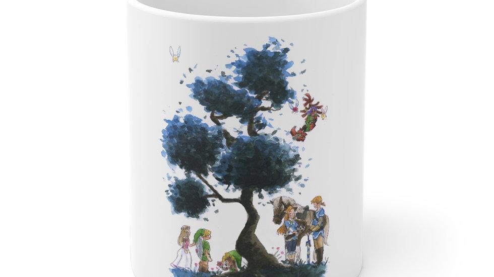 The Legend of Zelda Tree Nintendo Watercolor Original Design Ceramic Mug (EU)