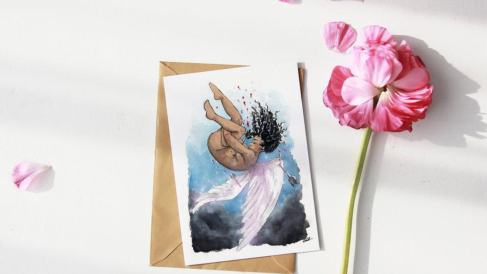 Black Lives Matter Watercolor Original Design Greetings Card