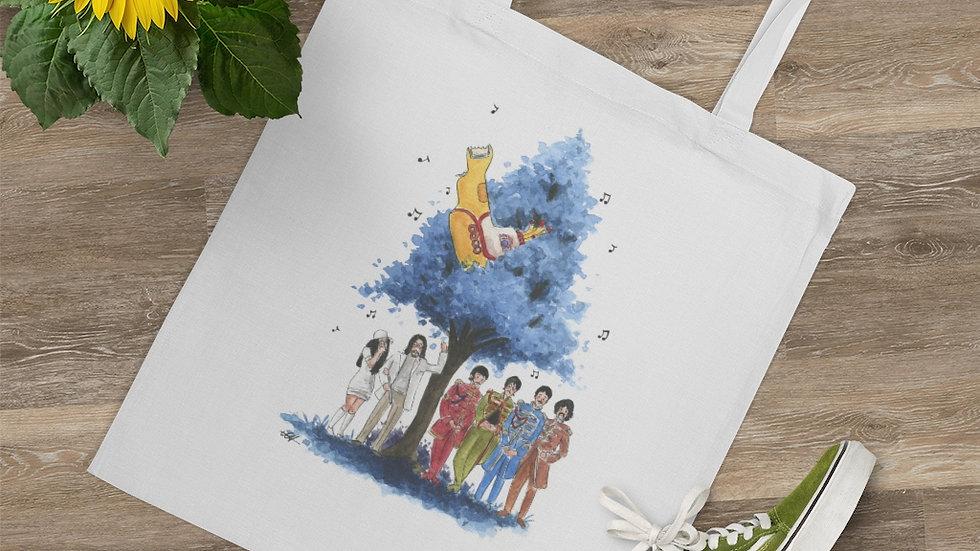 The Beatles Yellow Submarine Watercolor Original Design Tote Bag