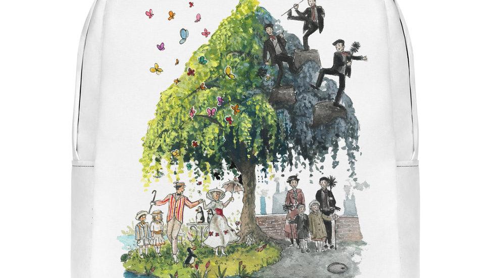 Disney Mary Poppins Tree Watercolor Original Design Minimalist Backpack
