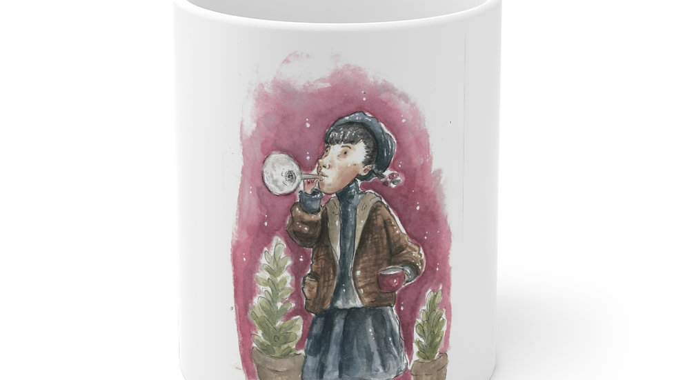 Trumpeter Watercolor Original Design Ceramic Mug (EU)