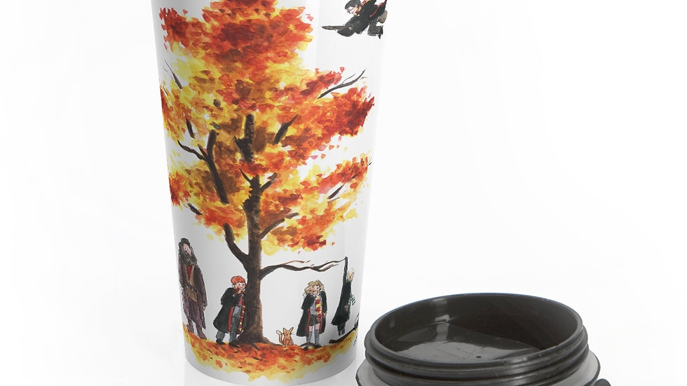 Harry Potter Watercolor Original Design Stainless Steel Travel Mug