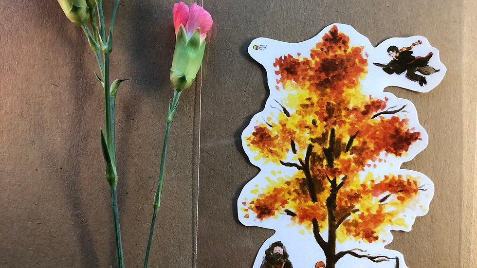 Harry Potter Quidditch Original Design Handmade Sticker
