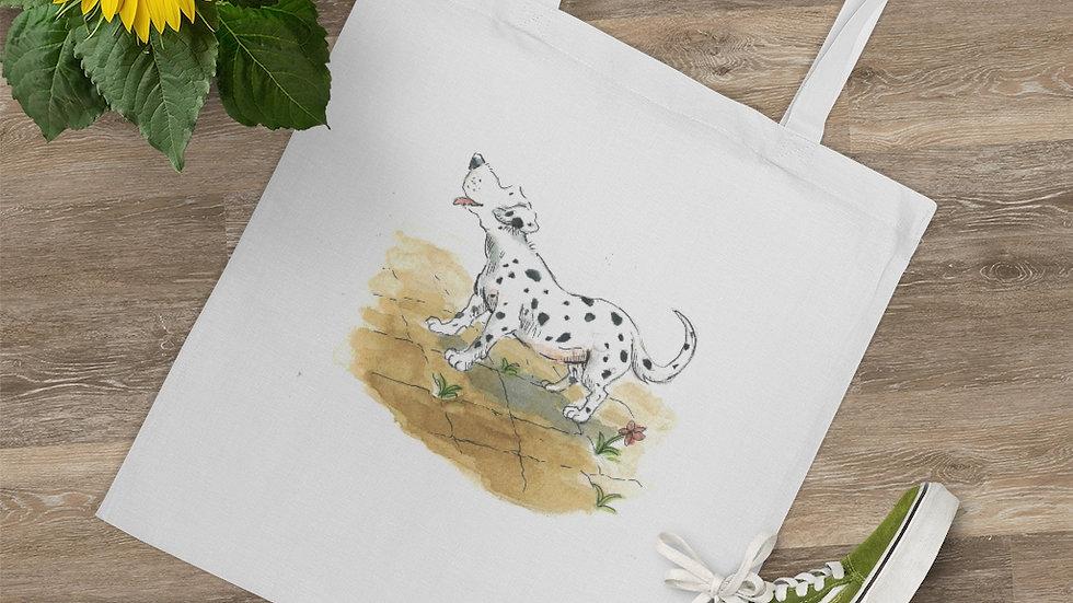 Happy Dalmatian Watercolor Original Design Tote Bag