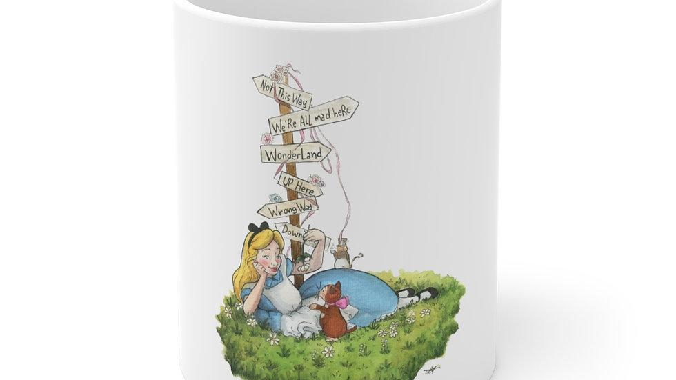 Disney Cute Alice Watercolor Original Design Ceramic Mug (EU)
