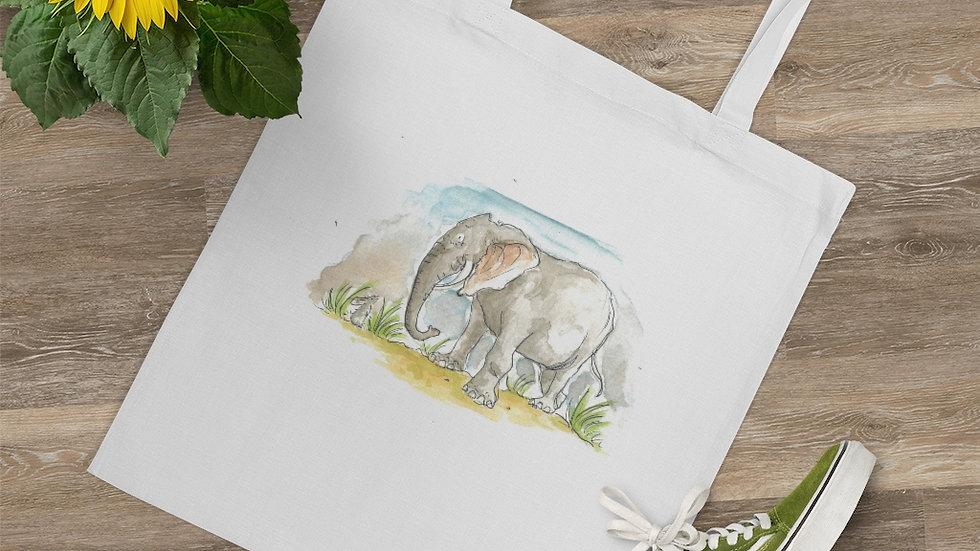 Cute Elephant Watercolor Original Design Tote Bag