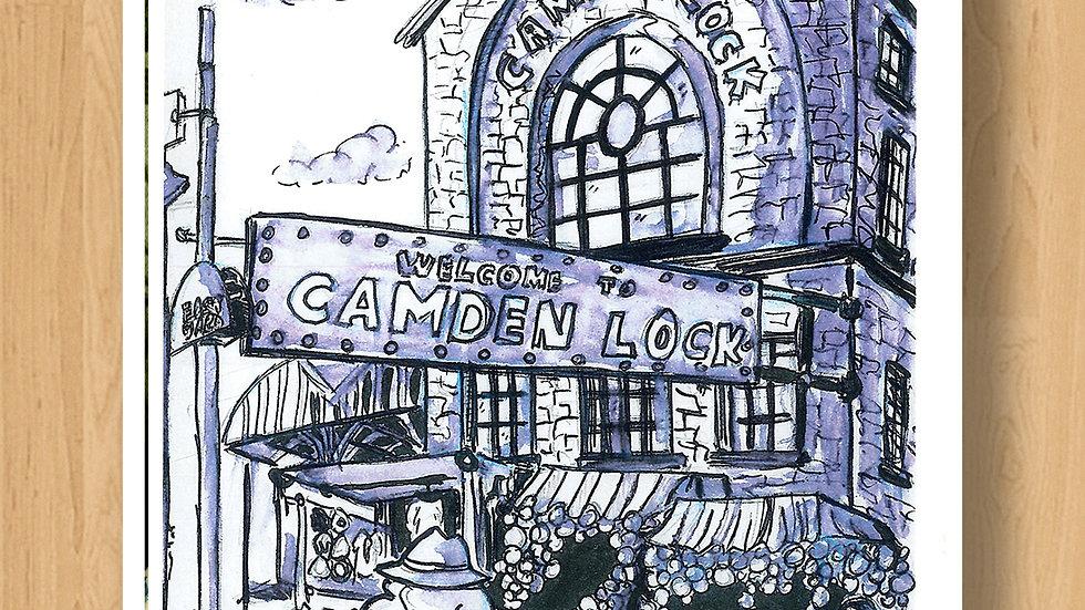 Camden Market London Original Design Print