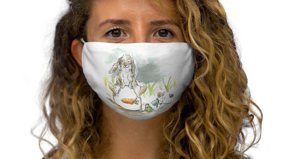 Rabbit & Mouse Watercolor Original Design Snug-Fit Polyester Face Mask