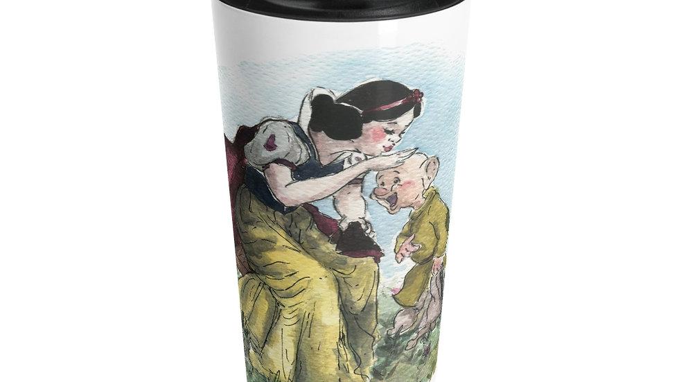 Disney Princess Snow White Watercolor Original Design Stainless Steel Travel Mug