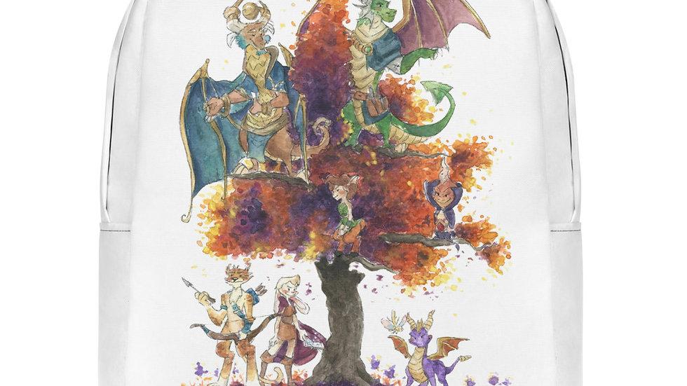 Spyro the Dragon Watercolor Original Design Minimalist Backpack