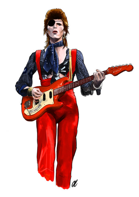 Bowie Red Clothes