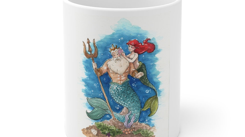 Disney Little Mermaid Watercolor Original Design Ceramic Mug (EU)