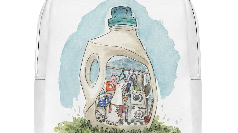 Cute Mouse in the Bottle Watercolor Original Design Minimalist Backpack