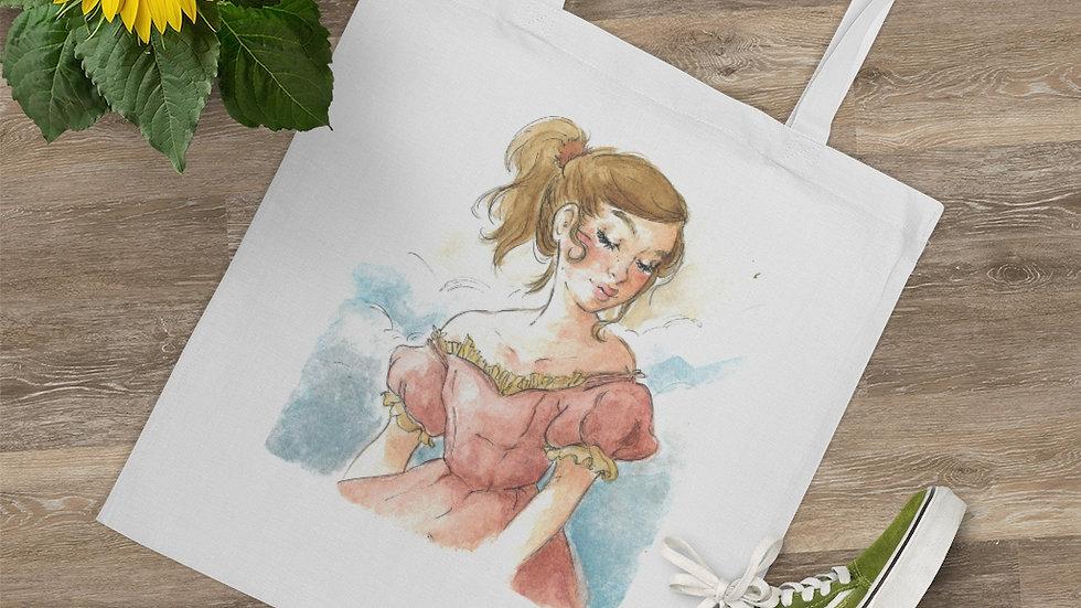 Little Princess in Pink Watercolor Original Design Tote Bag