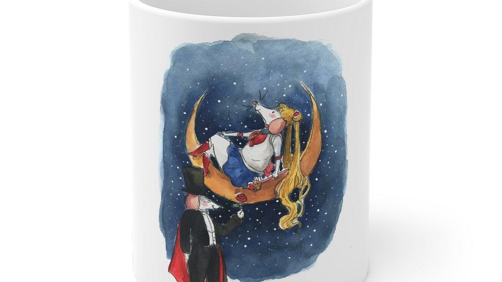 Sailor Mice Watercolor Original Design Ceramic Mug (EU)