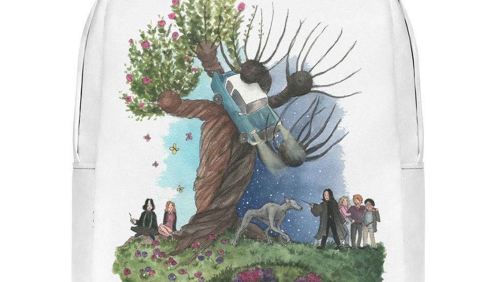 Harry Potter with Snape Tree Watercolor Original Design Minimalist Backpack