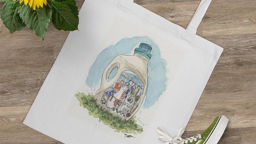 Mouse in the Bottle Watercolor Original Design Tote Bag